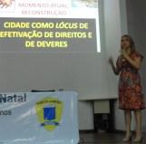 Dra. Marise Costa apresenta a palestra Fiscalização e Controle Urbanístico: a cidade como meio ambiente urbanisticamente equilibrado.