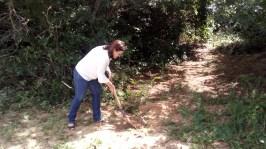Virgínia Ferreira, Secretária de Meio Ambiente Urbanismo faz plantio no Rio Pitimbu