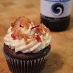 Chocolate Stout Brown Sugar Bacon Cupcakes