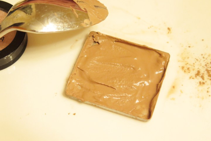 smooth the paste with a spoon