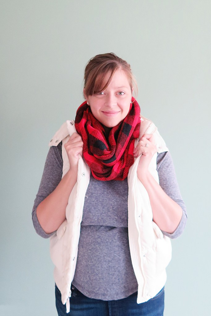 Stitch Fix Octavia Tina Checkered Infinity Scarf