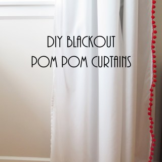 DIY Blackout Pom Pom Curtains