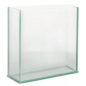 rectangle plate glass vase 5x4x3