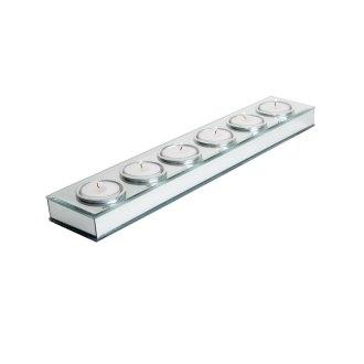 6 candle mirror platform tea light holder