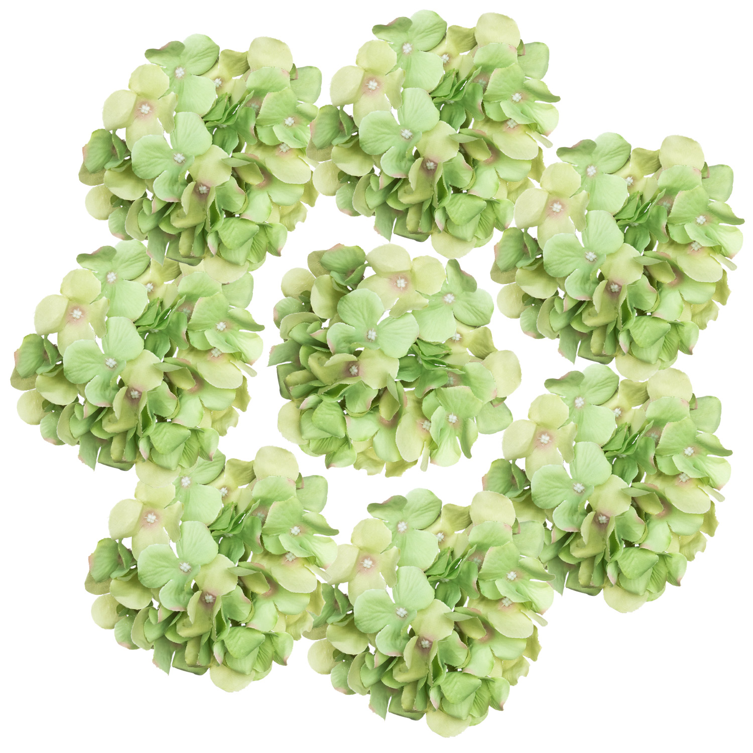 Green Artificial Hydrangea Heads Fisch Floral Supply