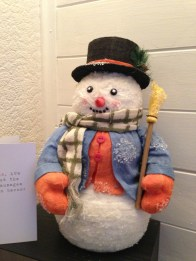 A cheery snowman