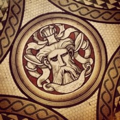 Angry V&A mosaic man