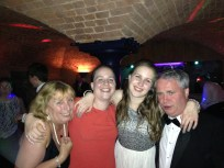 Late night family dancing