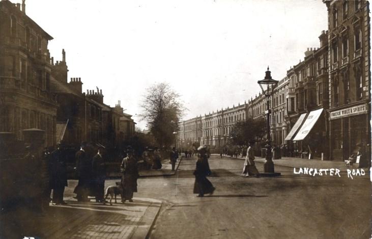 lancaster-road-około-1910-roku-Notting Hill-Londyn