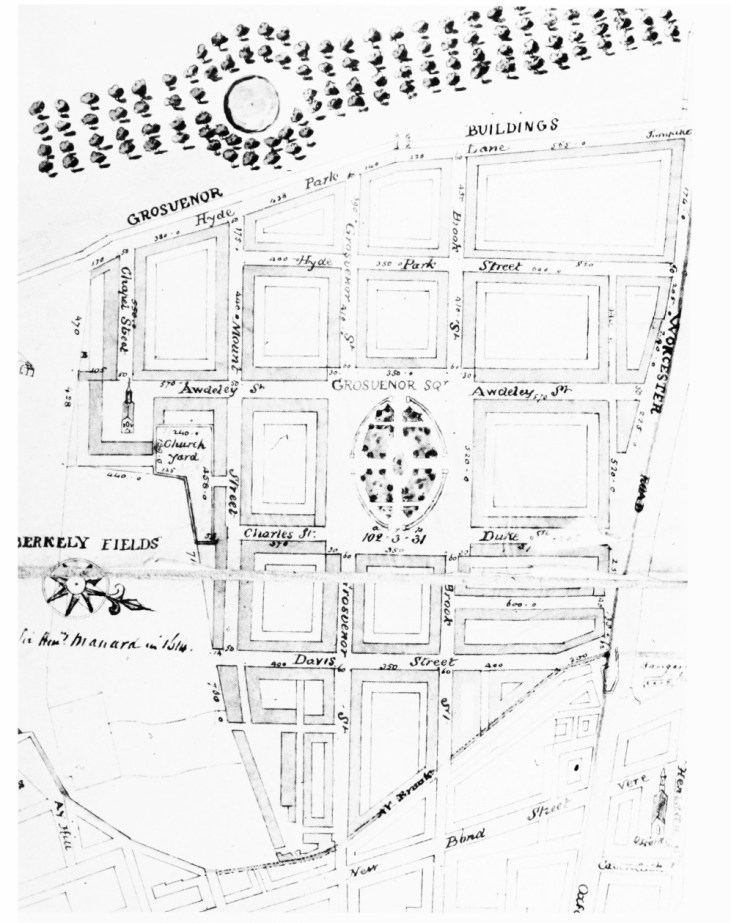grosvenor estate plan c. 1720