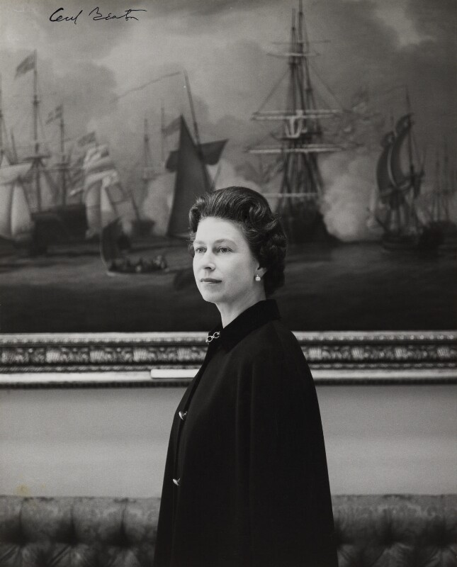 elizabeth II photo by cecil beaton in boat cloak by gieves and hawkes 1953 - national portrait gallery