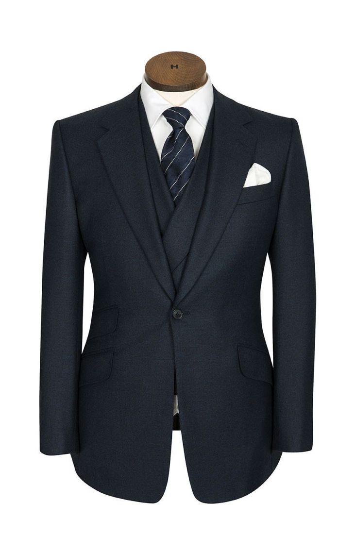 Huntsman-Bespoke-Signature-Cut- 1 button jacket - z ich strony