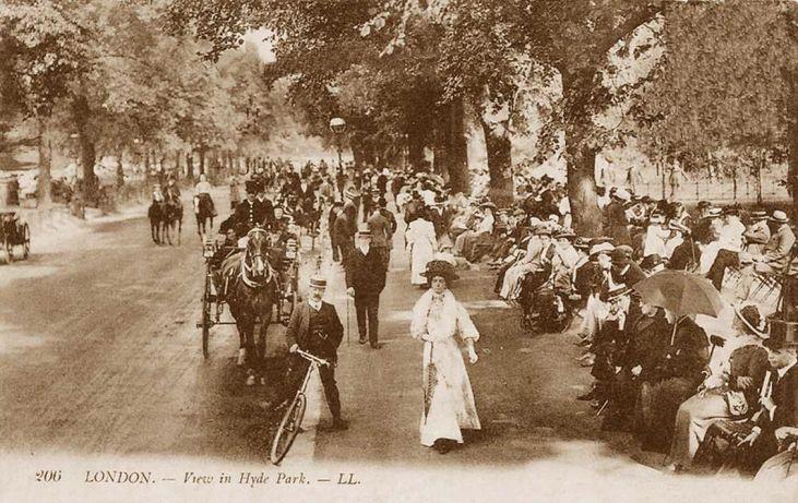 Hyde-Park-sezon-towarzyski-Londyn-okres-edwardiański
