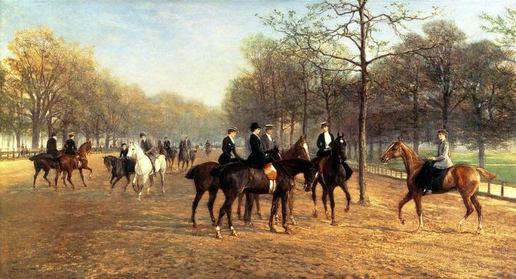 Heywood-Hardy-Rotten-Row-Hyde-Park-sezon-towarzyski-Londyn-1894
