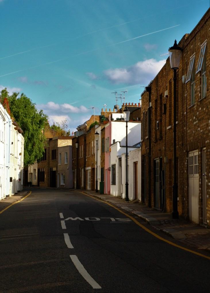 Urokliwa uliczka-Pottery Lane-Notting Hill-Londyn