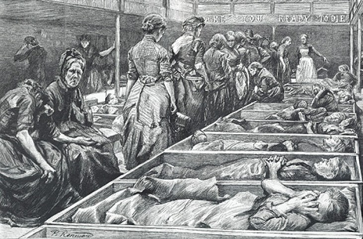 Doss-house-noclegownia-wiktoriański-Londyn-prostytucja-19-wiek-Anglia