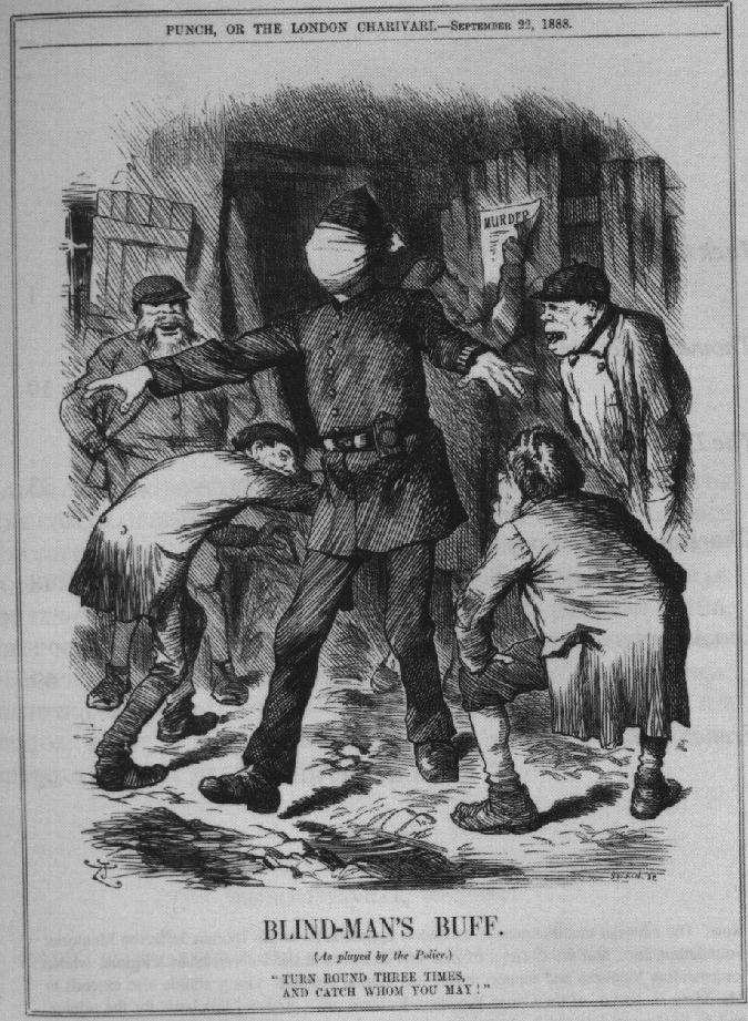 Karykatura-policja-Punch-1888-Kuba-Rozpruwacz-Whitechapel-Londyn