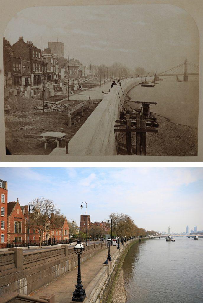 chelsea-embankment-1872-Londyn-kiedyś-i-dziś