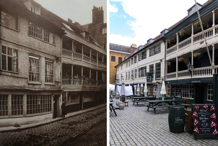 George-Inn-Yard-London-kiedyś-i-dziś