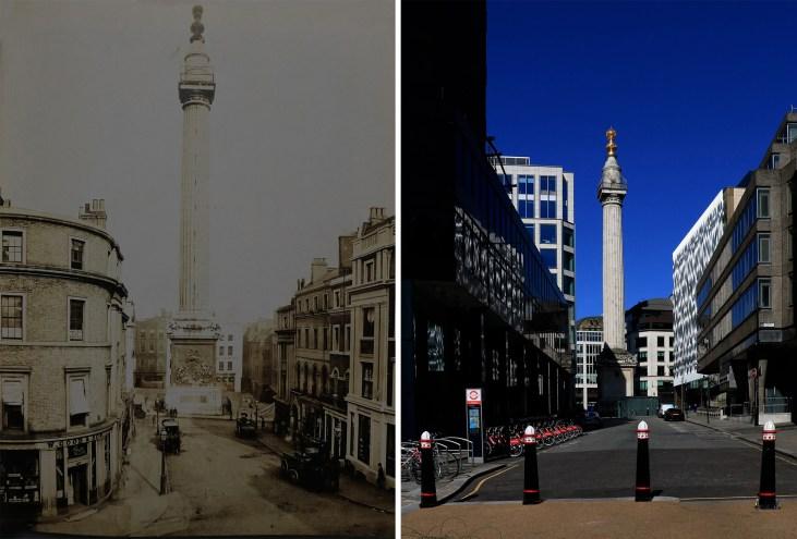 The-Monument-Londyn-kiedyś-i-dziś