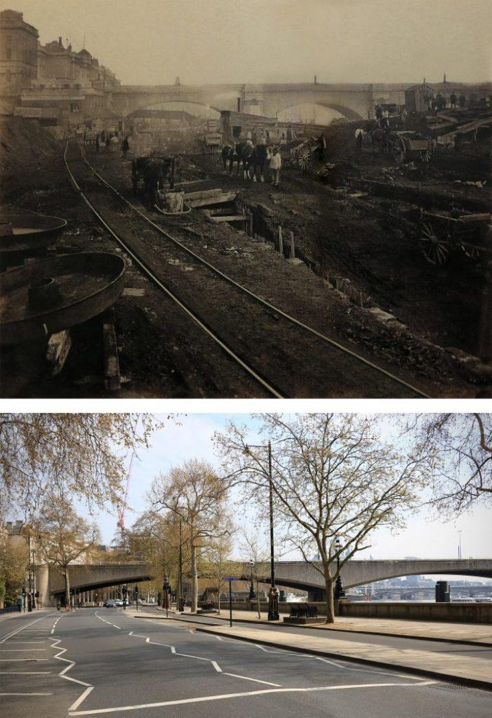 Konstrukcja-Victoria-Embankment-1869-Londyn-kiedyś-i-dziś