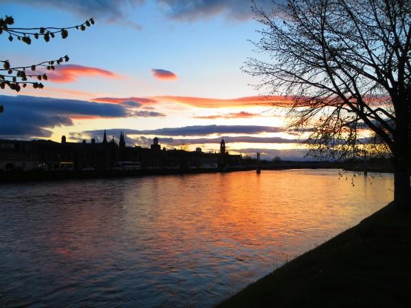 Inverness au coucher du soleil