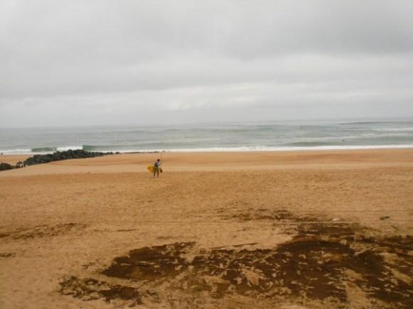 plage d'Hossegor en hiver