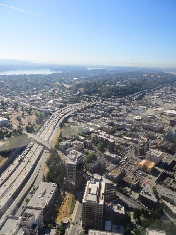 panorama sur Seattle depuis le Columbia Center