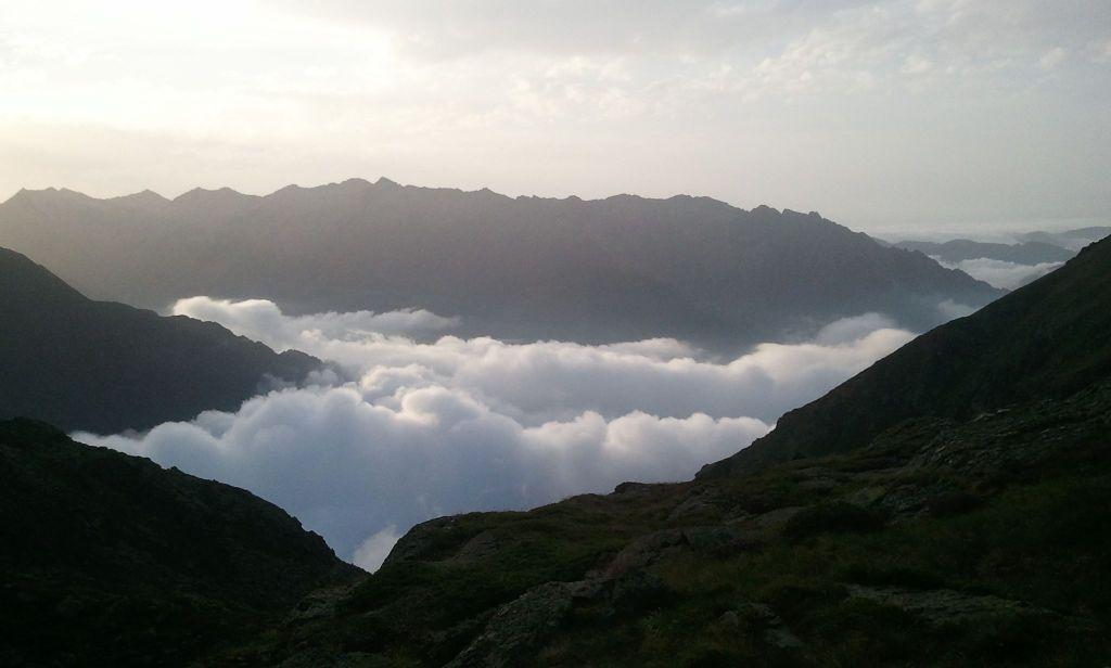 mer de nuages près des Picots - Pyrénées