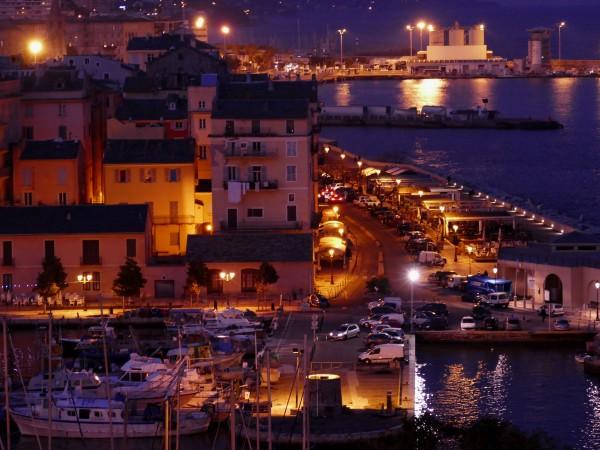 port de bastia - la nuit