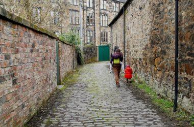 dans les rues de Glasgow