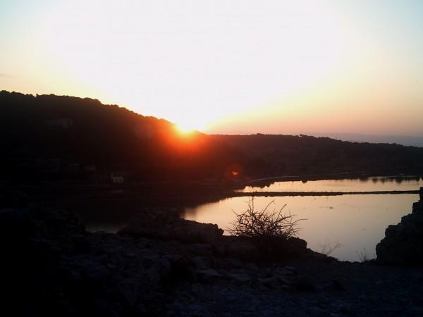 Coucher de soleil sur l'étang de Gruissan