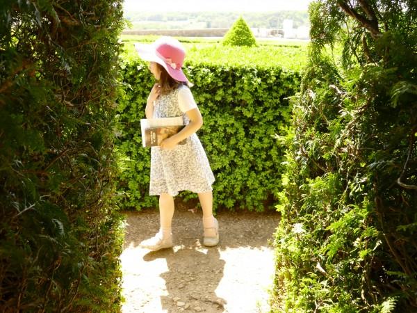 dans le jardin du château de Hautefort en Dordogne