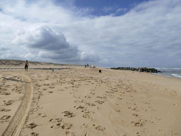 sur la plage de vieux boucau