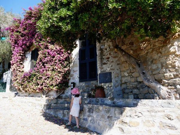 maison et bougainvilliers de Cervo - Liguria