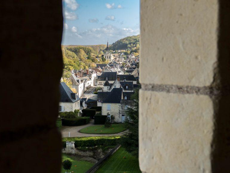 le village depuis le château d'Ussé à Rigny-Ussé