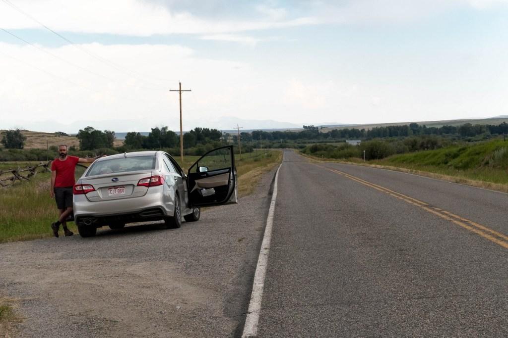 sur la route- dans le Montana