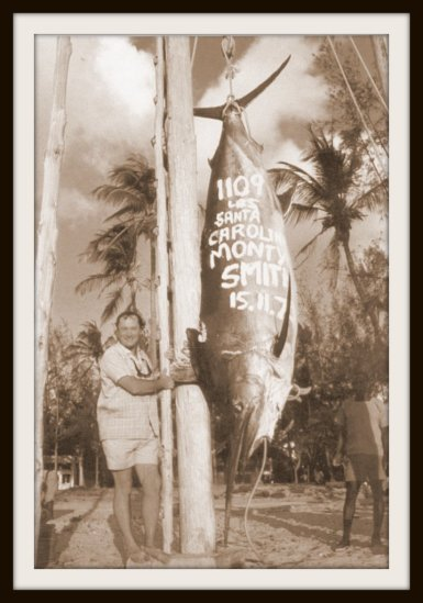 Monty Smith with a 1109 pound black caught in November 1973