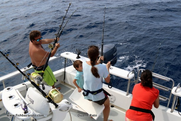 Cockpit chaos with multiple strikes on huge Wahoo. Bazaruto early season game fishing is epic