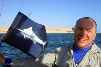 Successful black marlin release!