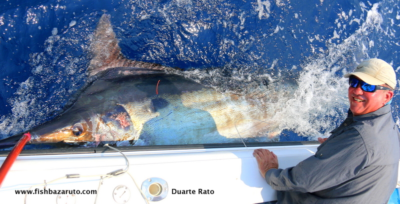 Nice big black marlin by Captain Duarte Rato and crew off Bazaruto.