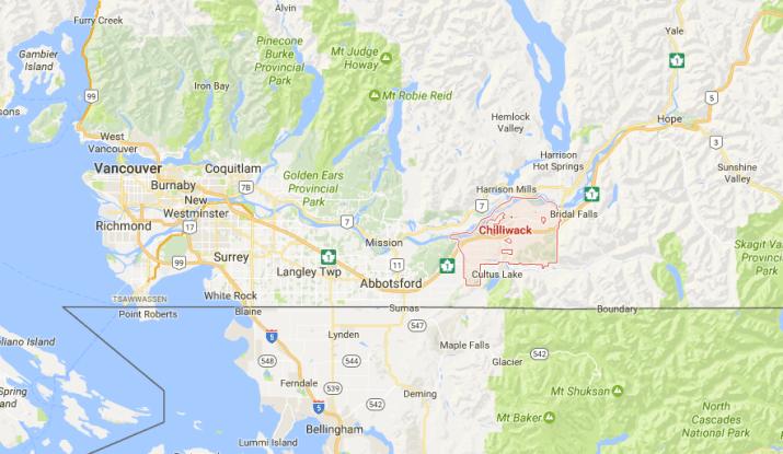 Fraser Valley Map
