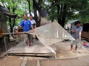 Laos - Hand lift scoop net