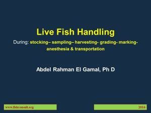Cover Live Fish Handling (Updated 2016 version)