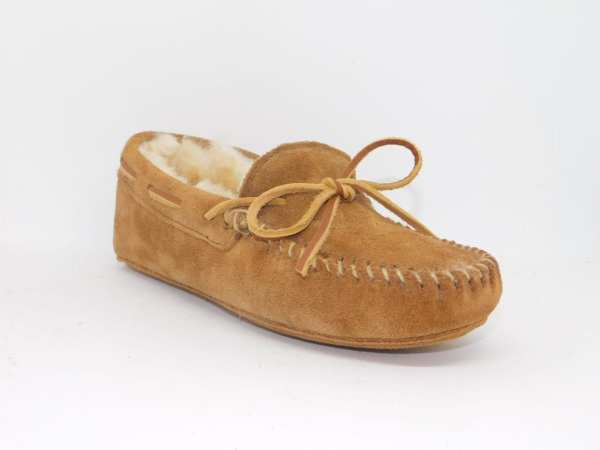 womens slippers sheepskin softsole tan 3311
