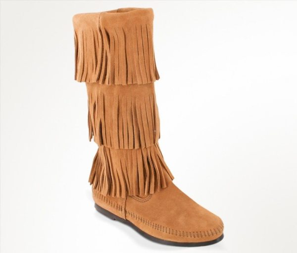 womens boots 3 layer calf taupe 1637t