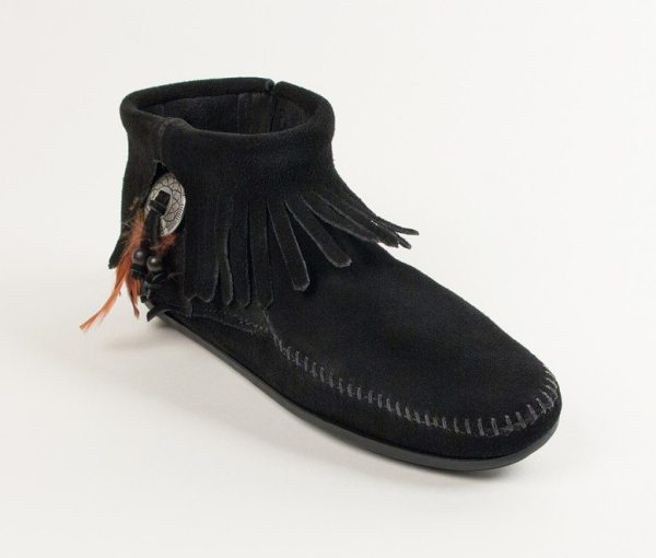 womens boots concho feather black 520