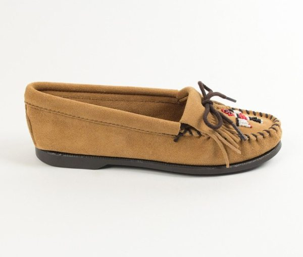 womens mocs thunderbird boat tan 177