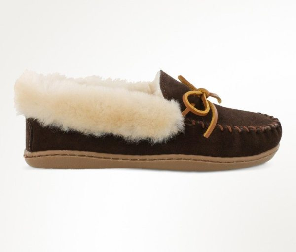 womens slippers alpine sheepskin brown 3379