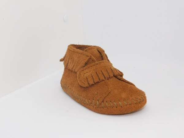 front strap bootie brown